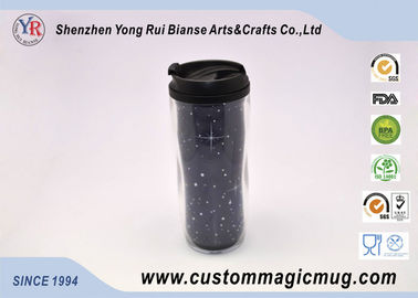 China Customizable Large Double Wall Mugs Plastic With Interlayer 12oz 350ml distributor