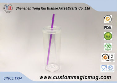 China Clear Food Safety Grade 200ml Plastic Straw Cup for Children's Gift distributor