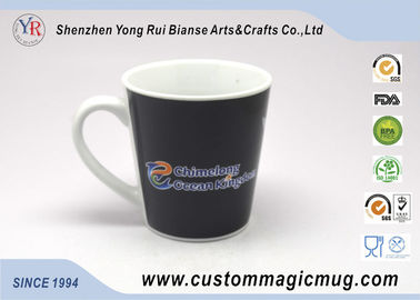 China Ceramic Porcelain Heat Sensitive Magic Mug That Change Color , V shape distributor