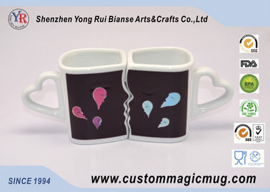 China Eco-friendly mug Custom Heat Sensitive Handle Couples Coffee Mugs Change Color Heat distributor