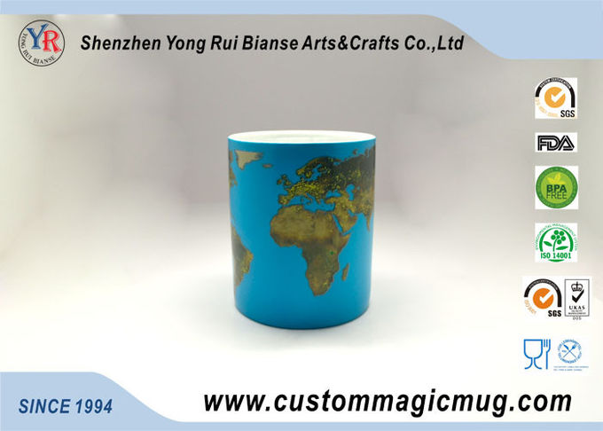 Heat Sensitive Eco Friendly Mugs , Color Changing 11oz Coffee Mug
