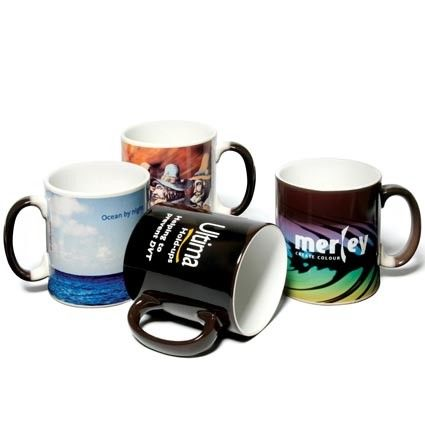 Amaze Blue Color Changing Magical Coffee Mug Hot Sensitive For Boys