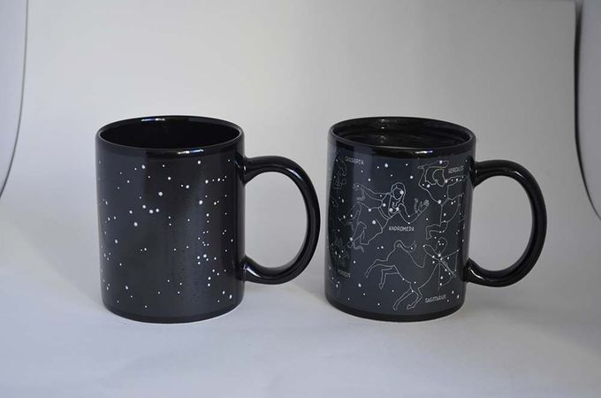 330ML Creative Constellation Magic Coffee Mug Porcelain Discoloration Milk Tea Cup