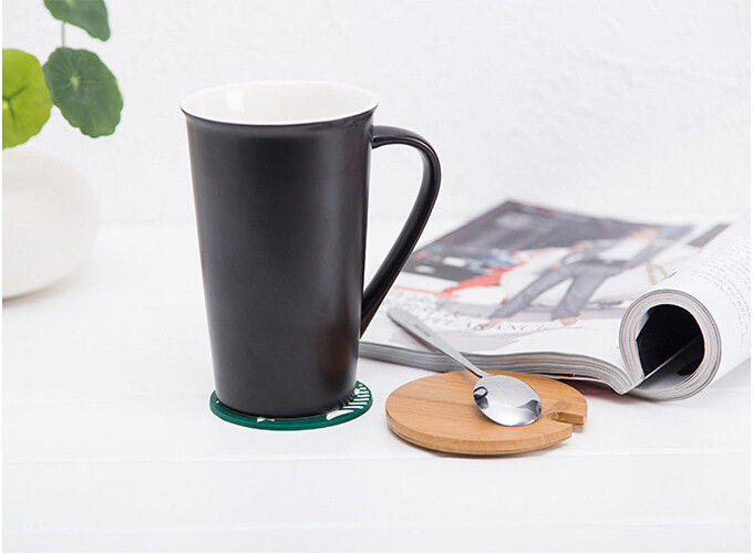 Starbuck Customizabled Eco Friendly Mugs With Spoon And Bamboo Lid
