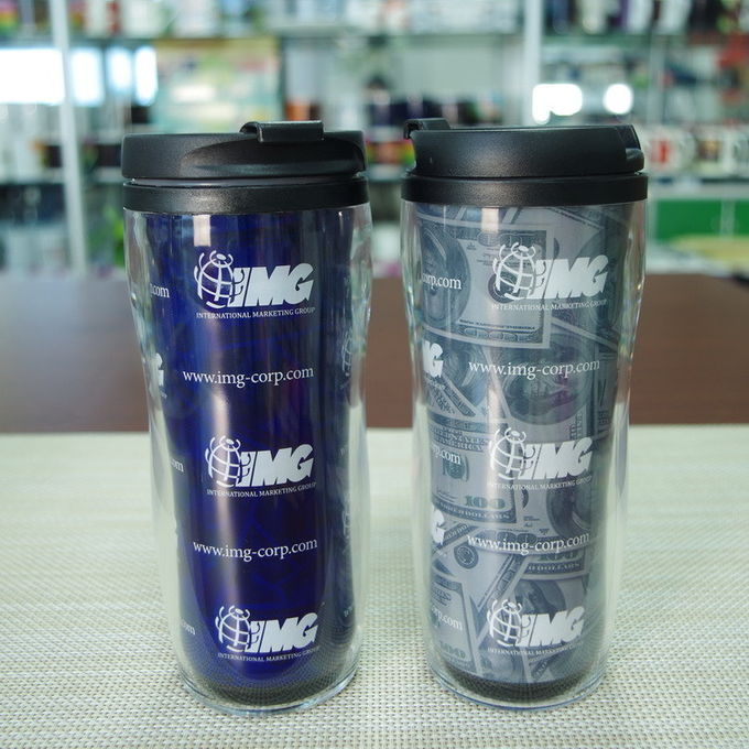 Printed 16oz  heat sensitive color changing mugs disposable plastic cup