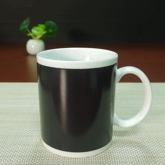 Partial Color Changing Coffee Mug ON/OFF High - White Ceramics