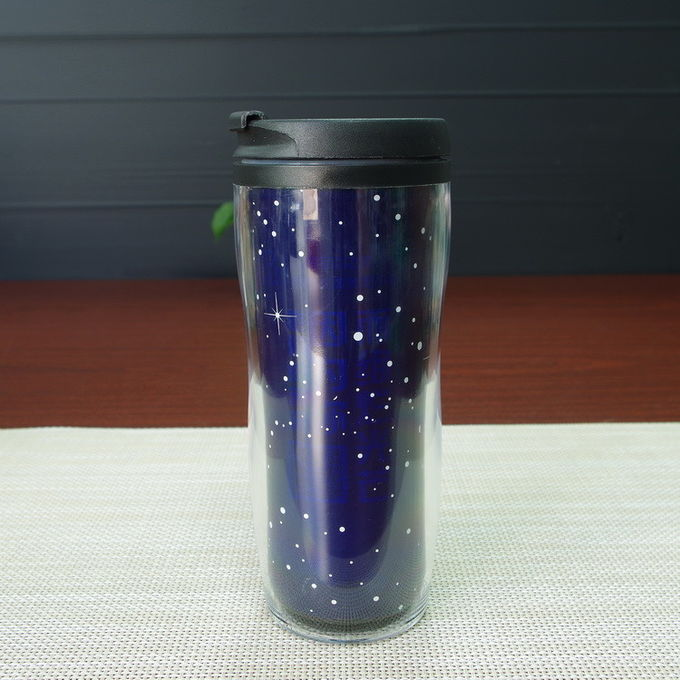 Temperature Sensitive Color Changing Mugs Double Wall Plastic