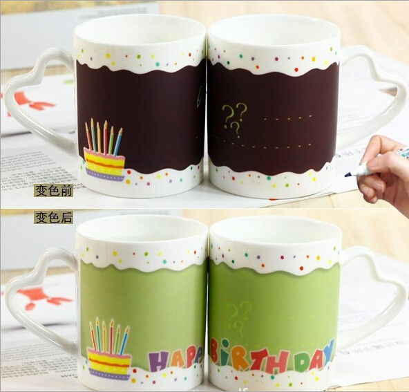 Stoneware Ceramic Type personalised heat sensitive mug Eco - Friendly Feature