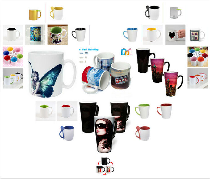Eco Friendly top grade Color Changing Ceramic Mug gift printing