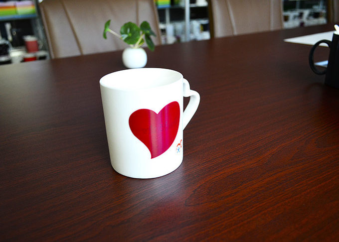 Heart Handle Promotional Eco Friendly Mugs , Gift Advertising Love Heart Mug